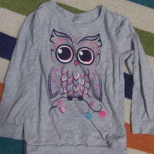 3 FOR $10 SIZE 5T GIRLS OWL SHIRT CUTE